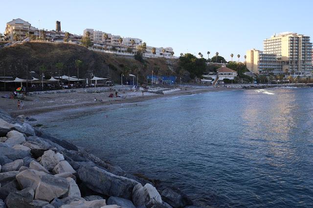 La playa de Torrevigía en Benalmádena