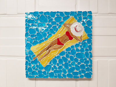 coastal art, pool art, mosaic art
