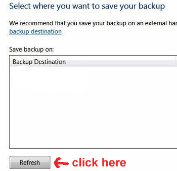 back up and restore files Windows 7
