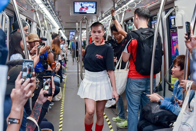As Above, So Below, Pestle & Mortar, Fall / Winter 2018 Collection, Fashion Show in LRT Train, Malaysia Fashion Brand