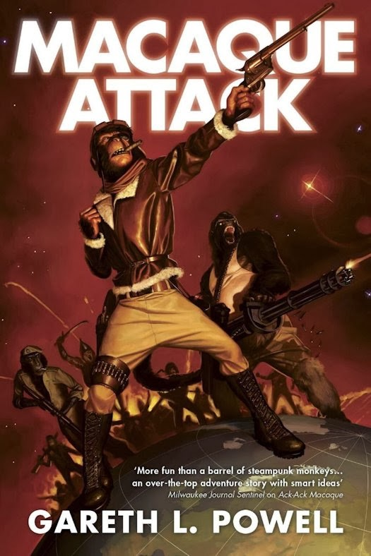 Cover Revealed - Macaque Attack by Gareth L. Powell