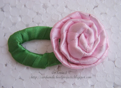 Cards  Crafts  Kids Projects  Super Easy Ribbon Flower Tutorial Ribbon Flower