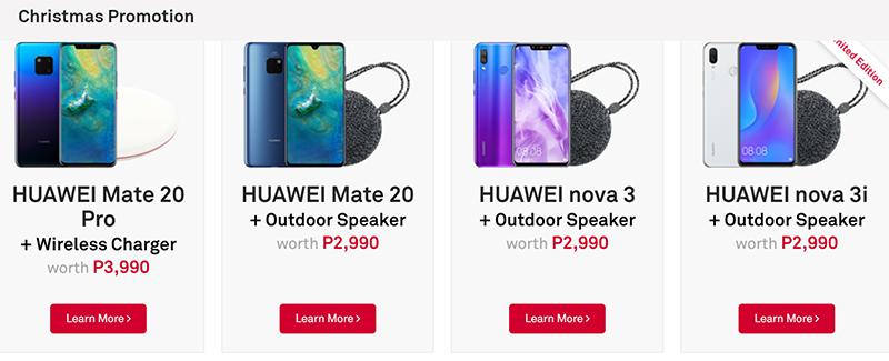 Huawei's Christmas promo