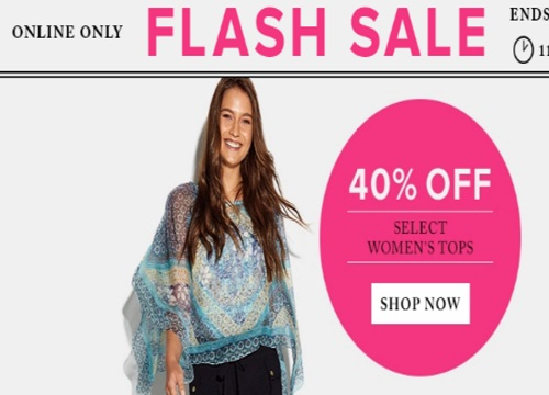 Hudson's Bay Flash Sale 40% Off Women's Tops