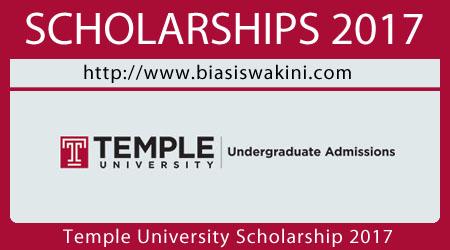 Temple University Scholarship 2017
