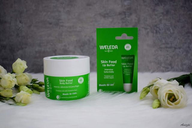 Masło do ust i masło do ciała Skin Food marki Weleda