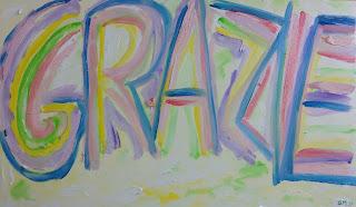 """""""Grazie 1000"""" 100x60 olio su tela  (15 luglio 2017) """"Thans 1000 """" 100x60 oil on canvas (July 15, 2017) di Giovanni Michele Malighetti"""
