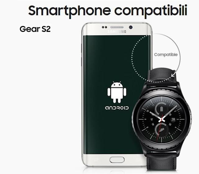 gear s2 compatibilita con quali telefoni funziona compatibile