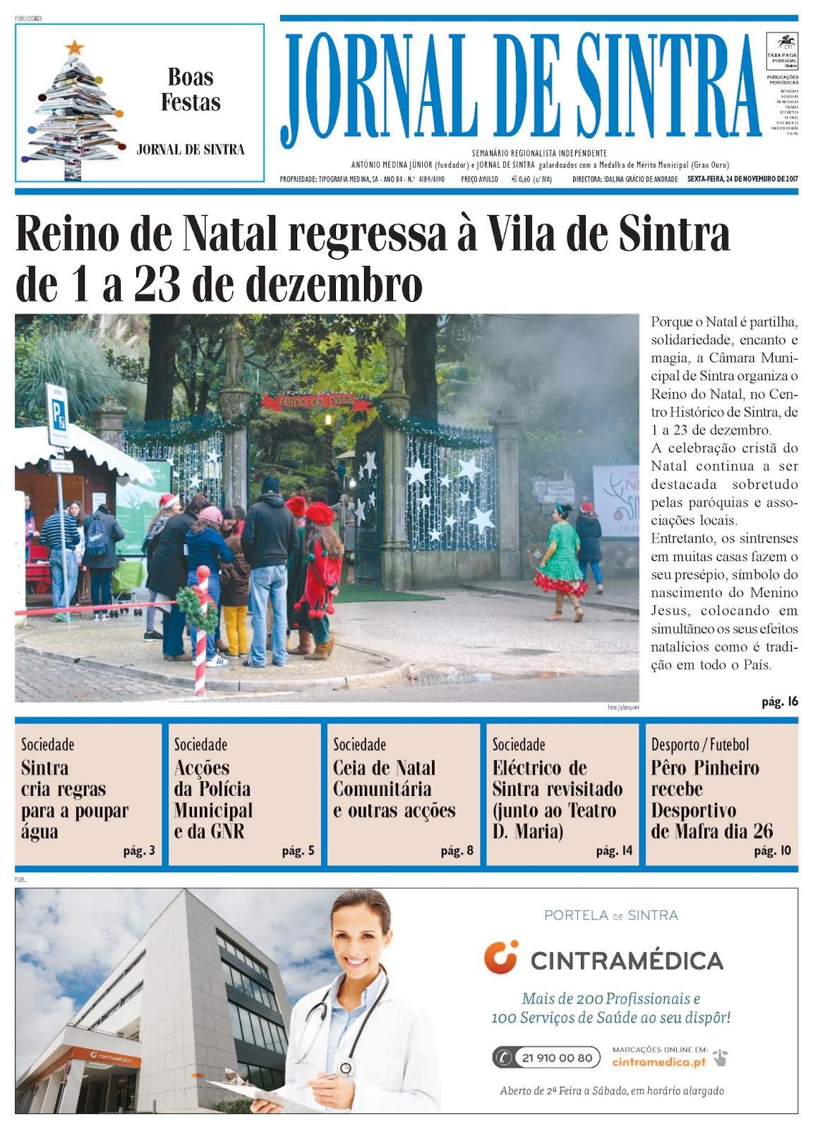 Capa da edição de 24-11-2017