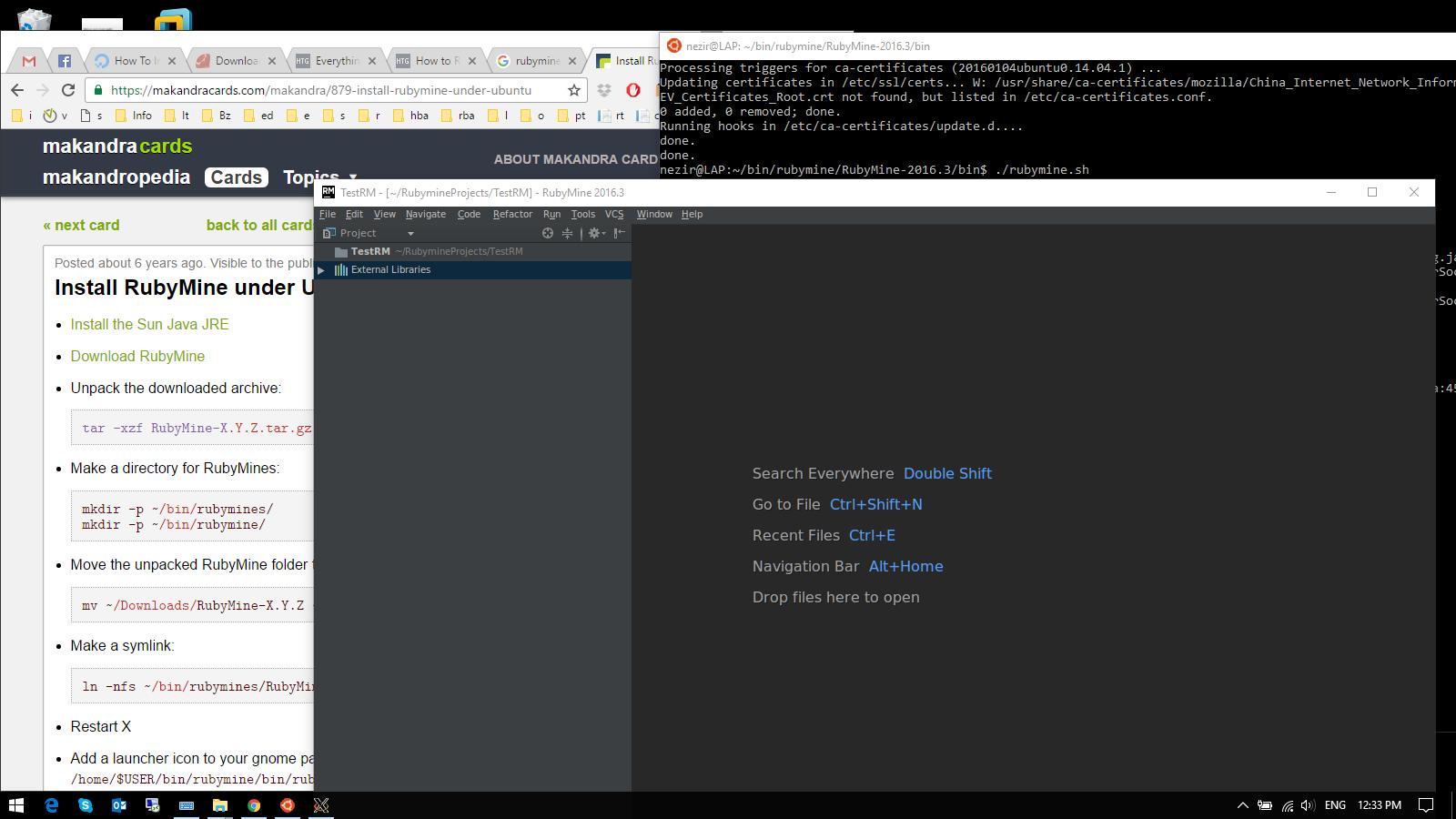 Ruby On Rails On Windows 10 Bash On Ubuntu On Windows Yes It Is