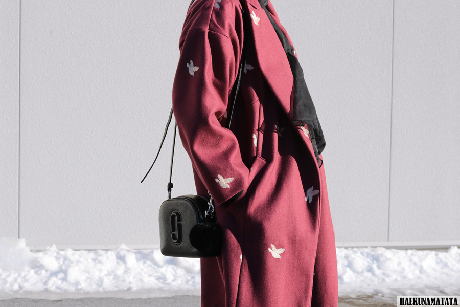 The Perfect Oversized Cacoon Coat - Burgundy Marc Jacobs Shutter Bag Blogger Style OOTD