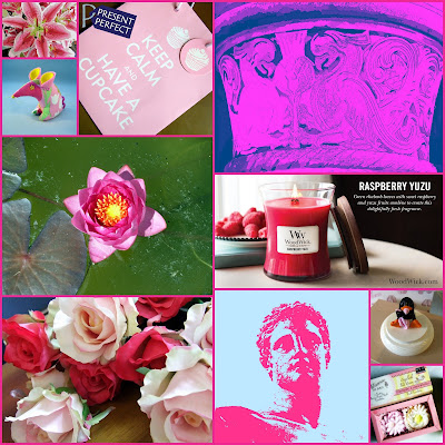 Collage of pink images for World Cancer Day