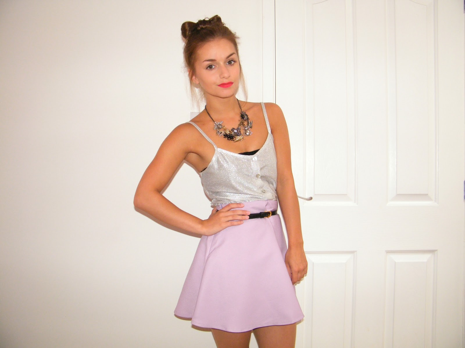 OASAP Purple Circle Skirt