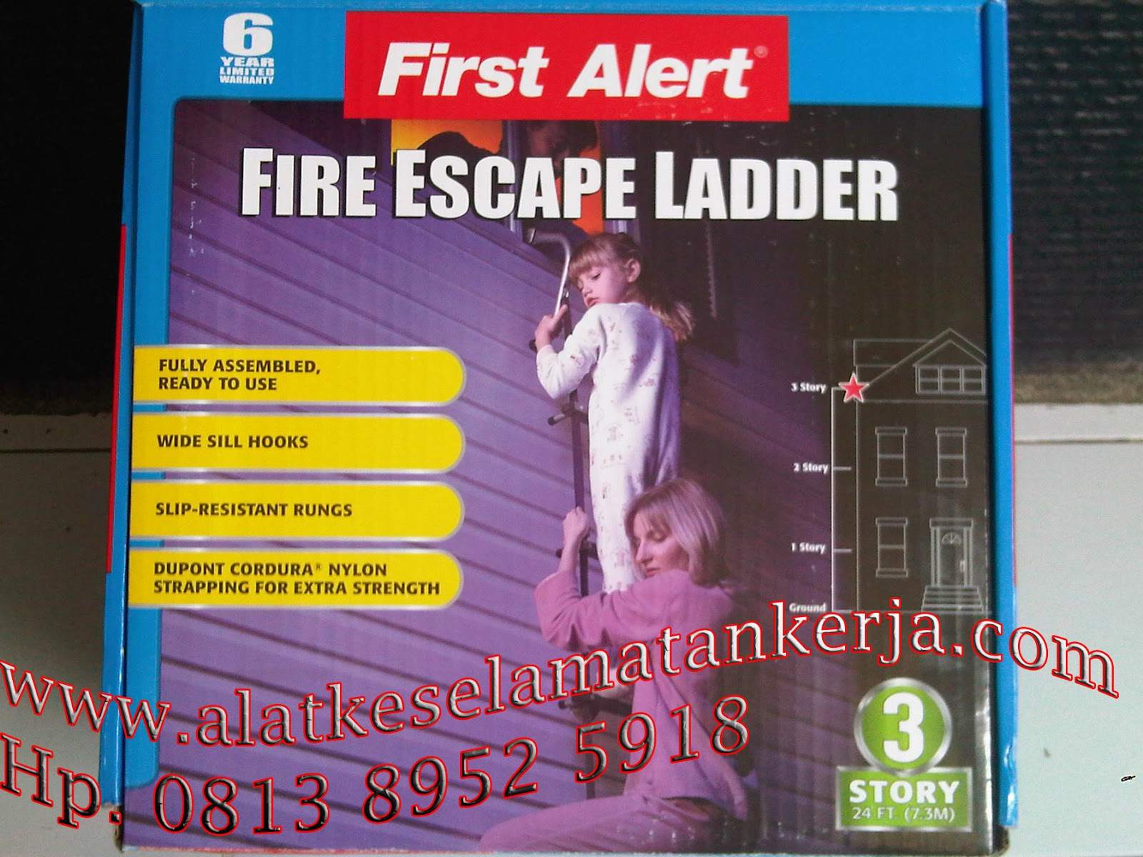 steel Fire Escape Ladder is easy to use FIRE  ESCAPE  LADDER | TANGGA DARURAT 3 LANTAI UNTUK GEDUNG