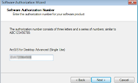 Preview - ArcGIS Administrator Software authorization number