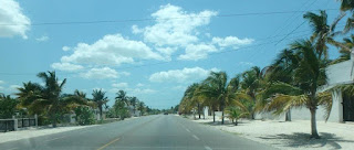 Driving into Chelem, Yucatan from Mérida