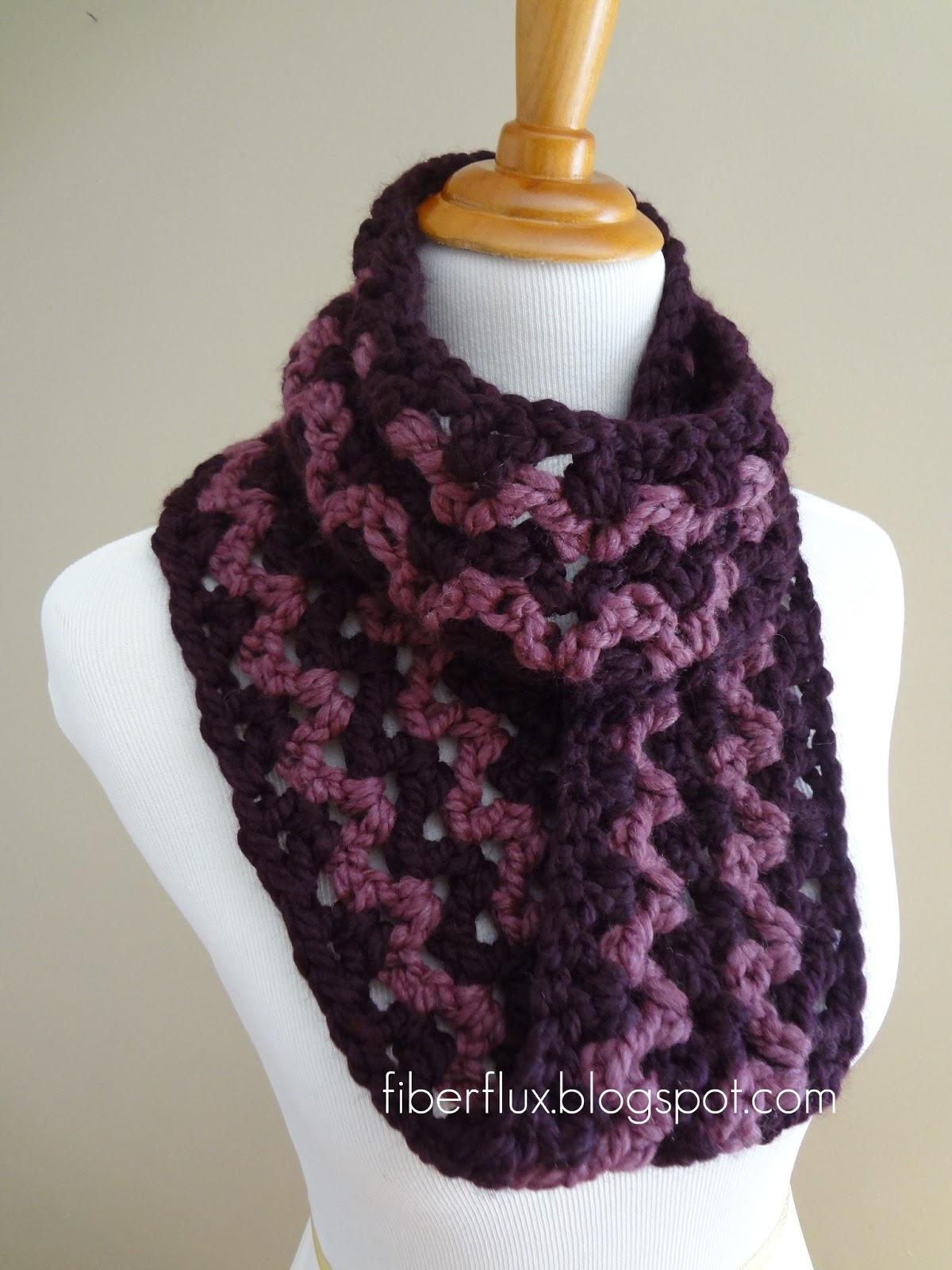 Fiber Flux: Free Crochet Pattern...Pinot Noir Infinity Scarf