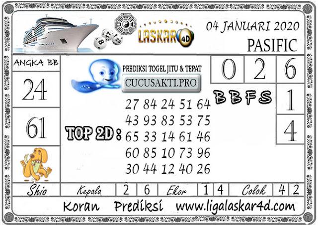Prediksi Togel PASIFIC LASKAR4D 04 JANUARI 2020