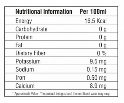 Zenith Apple Cider Vinegar Nutritional Facts