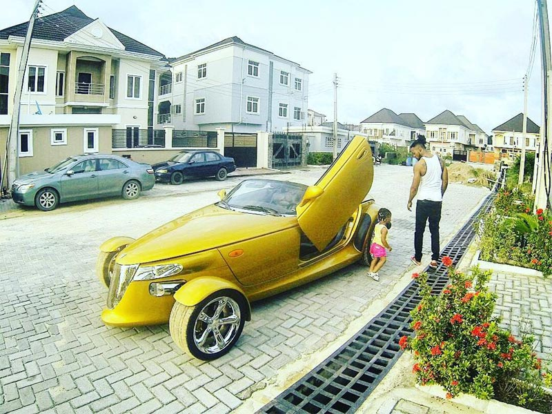 Flavour flaunts his daughter and exotic ride on IG