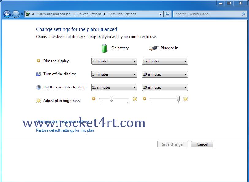 Cara Setting Mode Sleep Komputer Windows 7