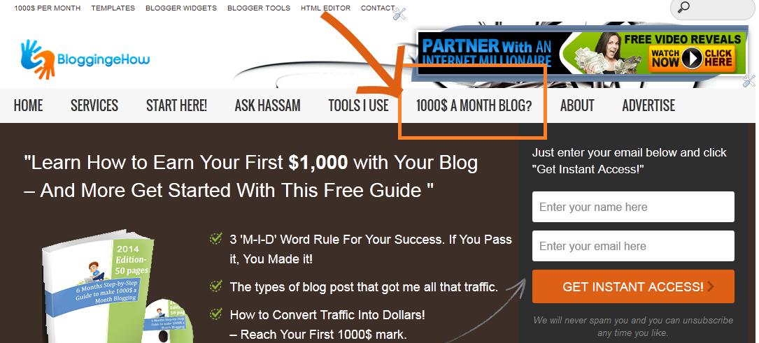 subscription funnel bloggingehow