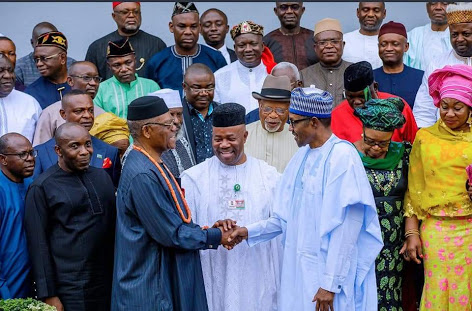 Buhari Receives Akpabio, Akwa Ibom Elders In Aso Rock (Photos)