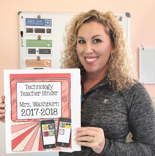 Brittany Washburn Technology Teacher Binder