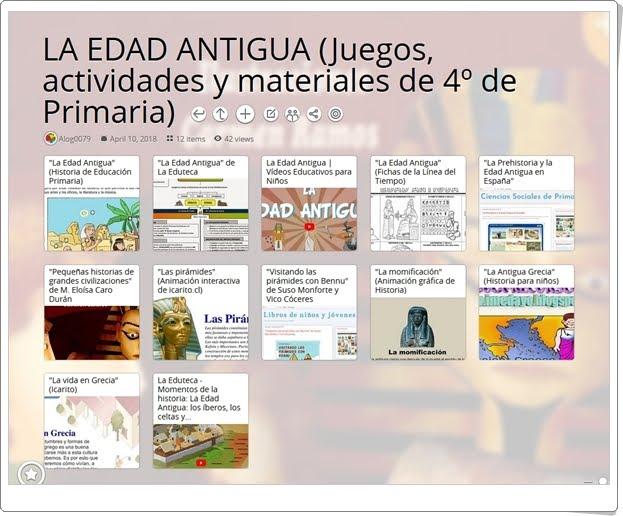 """""""12 Juegos, actividades y materiales para el estudio de LA EDAD ANTIGUA en 4º de Primaria"""""""