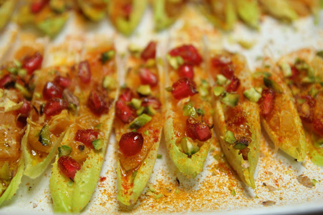 Belgian Endive Organic Appetisers with Tunisian Salad Gluten-free