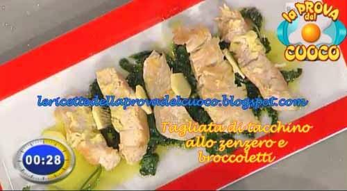 Tagliata di tacchino allo zenzero con broccoletti ricetta for Cucinare tagliata