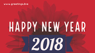 Red color new year 2018 Greeting
