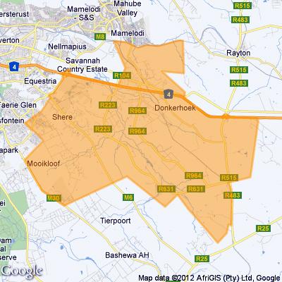 map pretoria suburbs