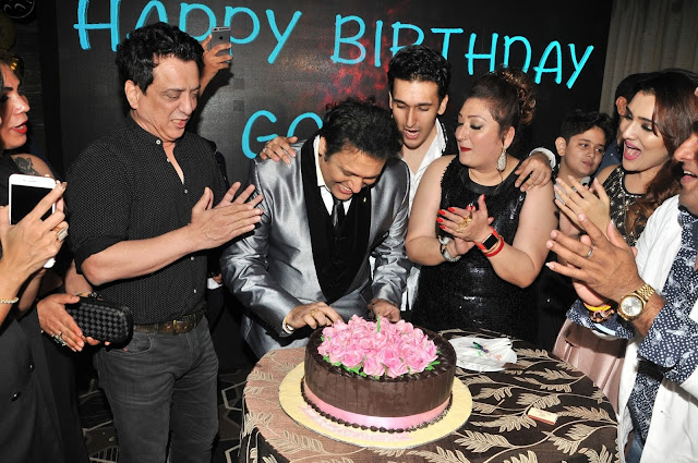 11. Govinda cleebrating his Birthday with family and Sajid Nadiadwala
