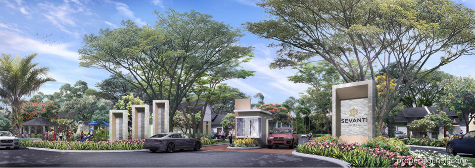 Gate Cluster Sevanti Homes Summarecon Karawang