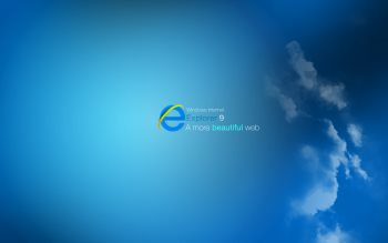 Wallpaper: Internet Explorer 9 & Windows 7