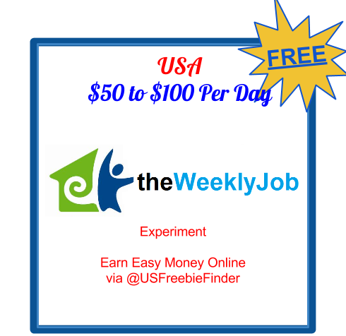 USA Freebies: Earn Easy Money Online - the Weekly Job Experiment