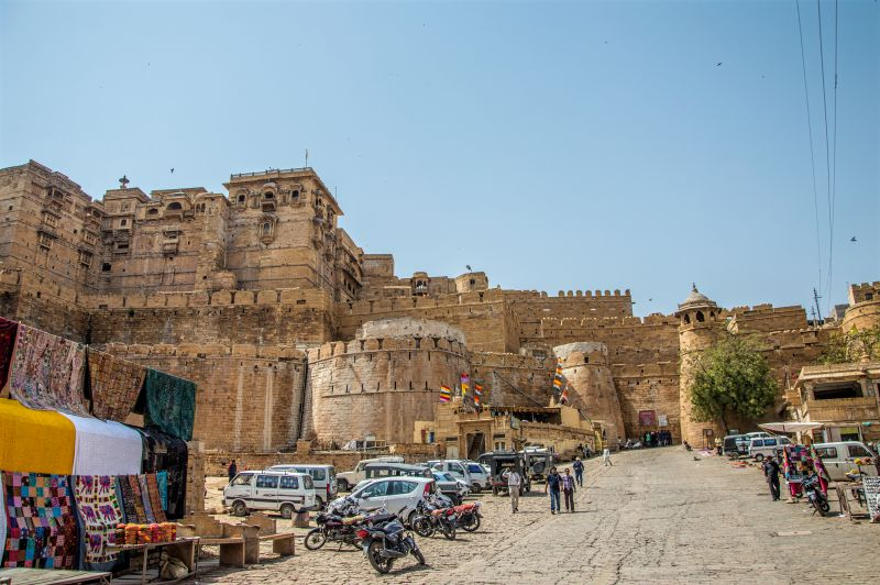 Another view of Jaisalmer fort Entrance