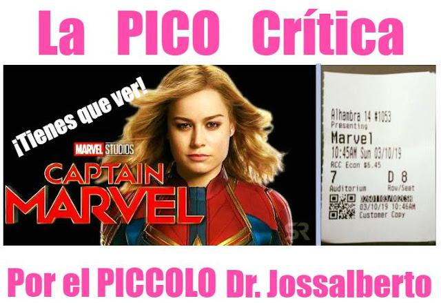 La Pico Crítica: Capitana Marvel.