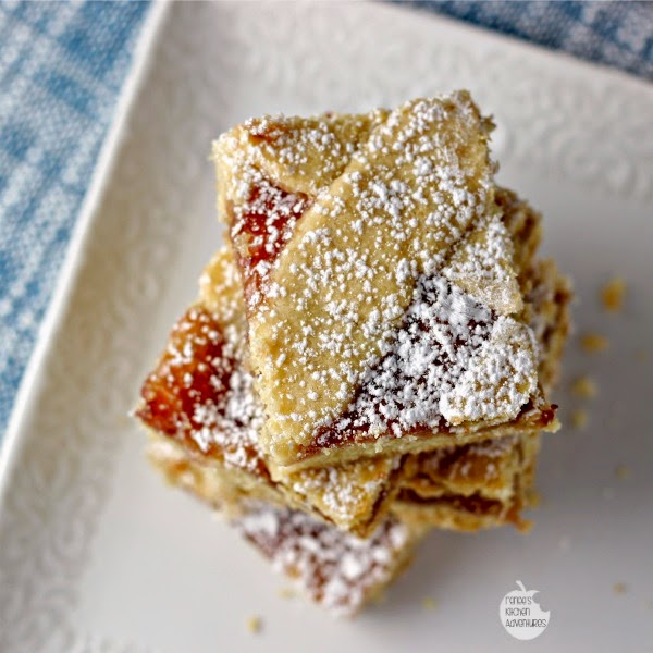 Hungarian Jam Squares| Renee's Kitchen Adventures  My husband's favorite cookie!