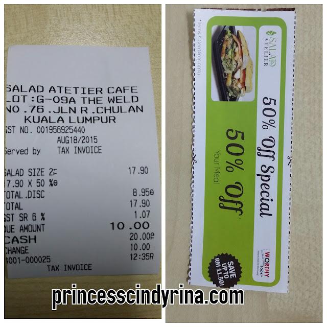 receipt and discount vouchers