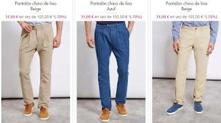 pantalones chino de lino