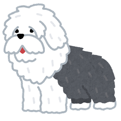 オールド・イングリッシュ・シープドッグのイラスト(犬)