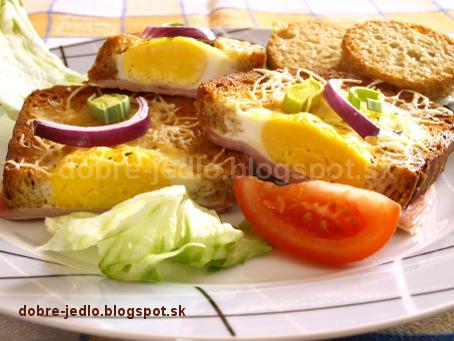 Vajíčka v hrianke - recepty