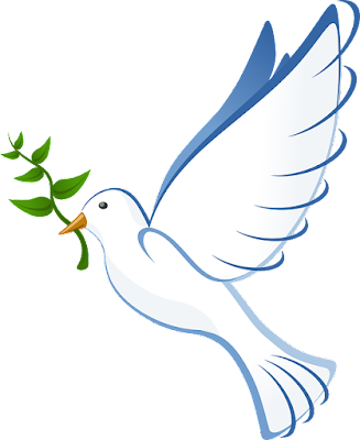 Dove of Peace with an Olive Branch in Its Mouth