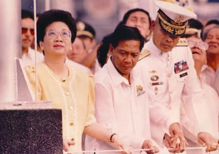 Binay and President Cory Aquino