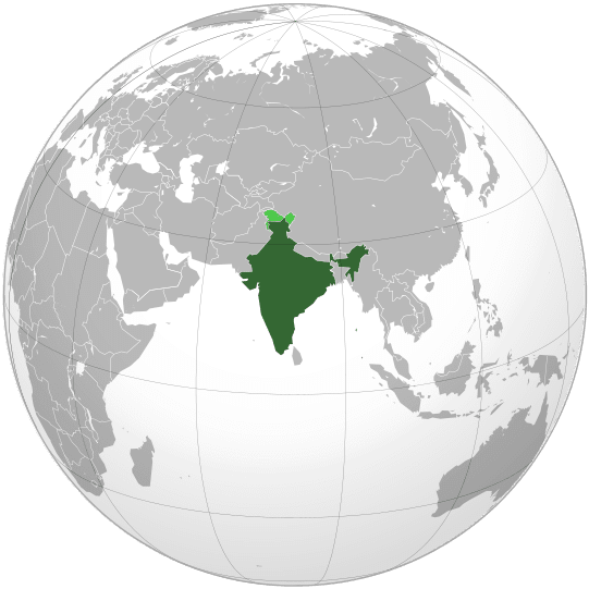 Letak negara India