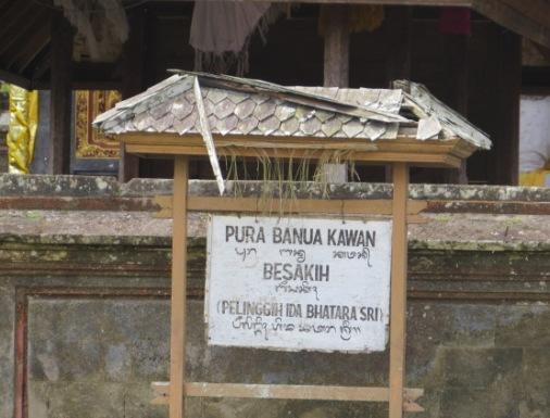 Pura Banua Kawan Besakih, Banua Kawan Temple Besakih