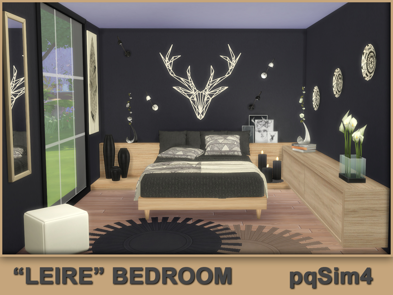 Leire bedroom sims 4 custom content for Four bedroom