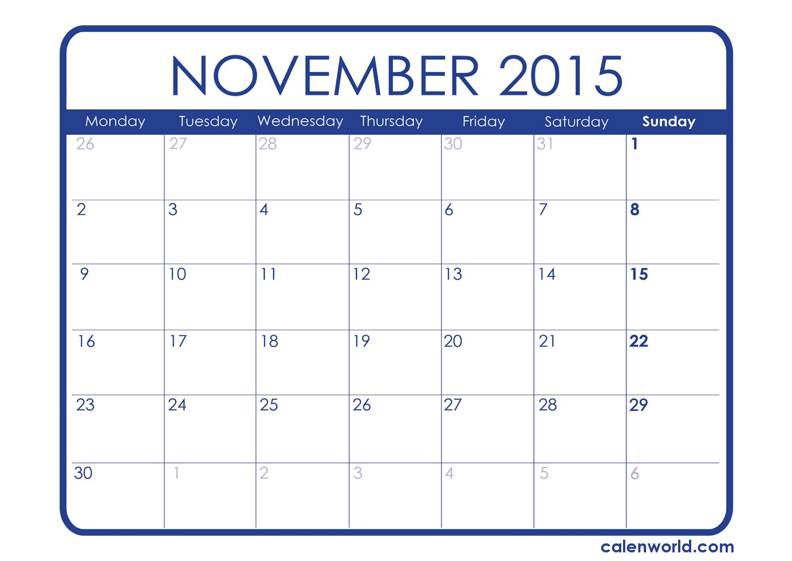 Free Printable Calendar 2018 Free Printable Calendar November